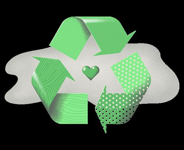 Ilustracja odpadów