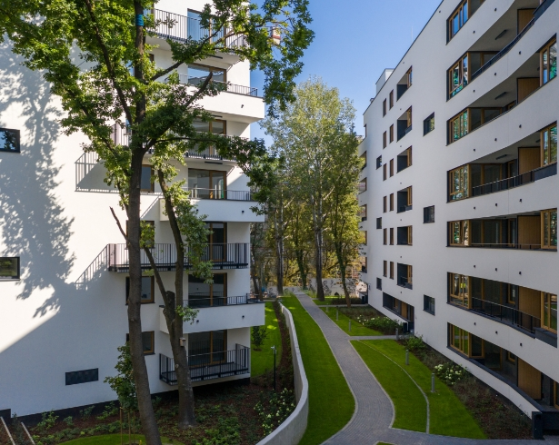 Wybudowane osiedle w Warszawie - Osiedle Mickiewicza