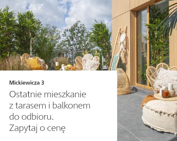 Zapytaj o cenę ostatniego mieszkania z tarasem i balkonem - Oferty specjalne Skanska