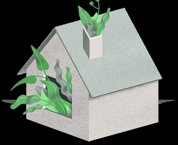 Ilustracja domu przyjaznego środowisku
